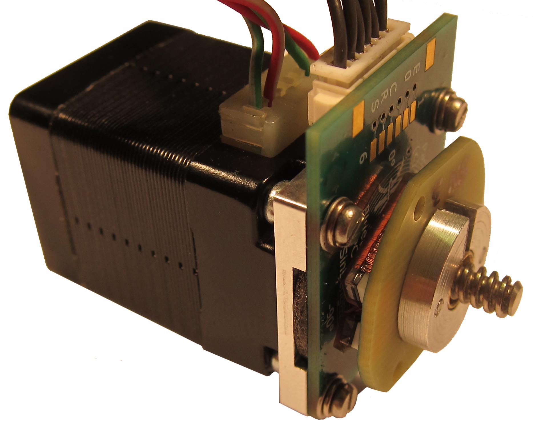 NEMA8 non-captive linear stepper motor with 21mm throguh hole rotary screened sensor and target