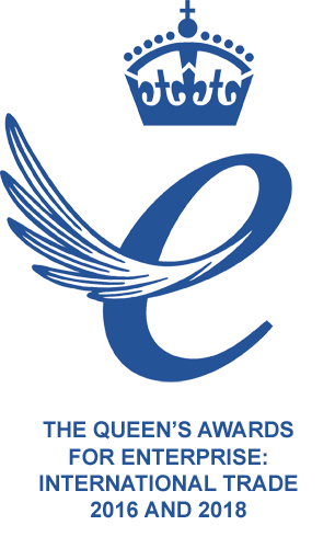 Queen's Award For Enterprise International Trade 2016 and 2018 Emblem