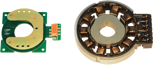 35mm Type 6.3 Rotary Sensor (left) and 52mm VR Type Resolver (right)